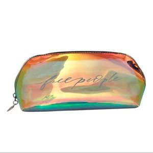 Free People Translucent Iridescent cosmetic bag LIKE NEW